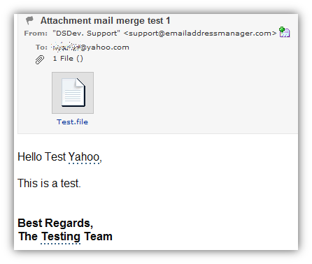 how do i send a mail merge email with an attachment
