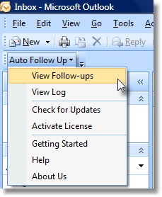 follow up Outlook toolbar